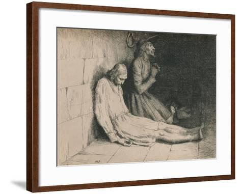 Christian and Hopeful in the Dungeon, C1916-William Strang-Framed Art Print