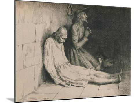 Christian and Hopeful in the Dungeon, C1916-William Strang-Mounted Giclee Print
