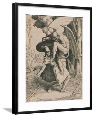 Christian Fights Apollyon, C1916-William Strang-Framed Art Print