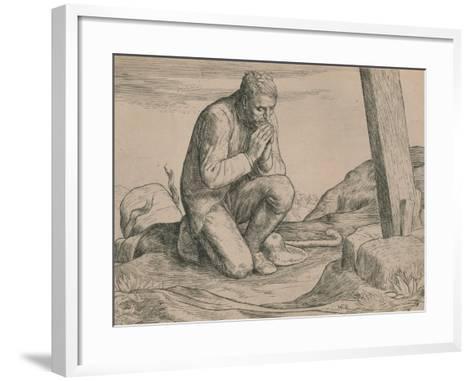 Christian Loses His Burden, C1916-William Strang-Framed Art Print