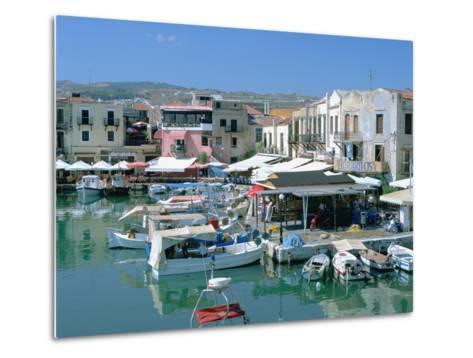 Old Harbour, Rethymnon, Crete, Greece-Peter Thompson-Metal Print