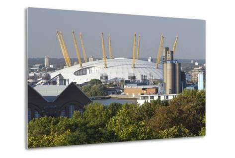 The O2 Arena from Greenwich Park, London, 2009-Peter Thompson-Metal Print