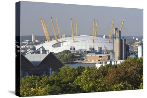 The O2 Arena from Greenwich Park, London, 2009-Peter Thompson-Stretched Canvas Print