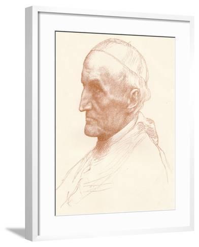 Cardinal Manning, C1857-1903-Alphonse Legros-Framed Art Print