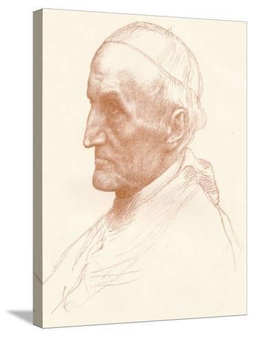 Cardinal Manning, C1857-1903-Alphonse Legros-Stretched Canvas Print