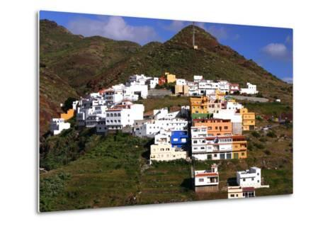 Houses Above the Town on a Mountainside, San Andres, Tenerife, Canary Islands, 2007-Peter Thompson-Metal Print