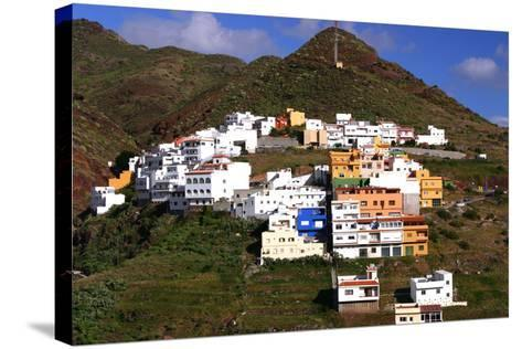 Houses Above the Town on a Mountainside, San Andres, Tenerife, Canary Islands, 2007-Peter Thompson-Stretched Canvas Print