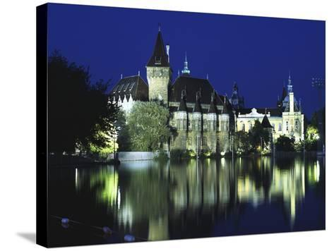Vajdahunyad Castle in the City Park, Budapest, Hungary-Peter Thompson-Stretched Canvas Print