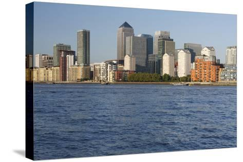Canary Wharf, London, 2009-Peter Thompson-Stretched Canvas Print