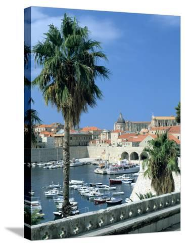 Old Harbour, Dubrovnik, Croatia-Peter Thompson-Stretched Canvas Print