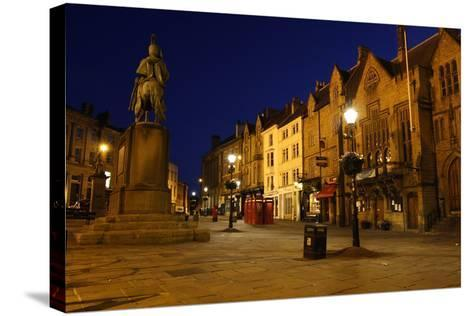 Market Place at Night, Durham-Peter Thompson-Stretched Canvas Print