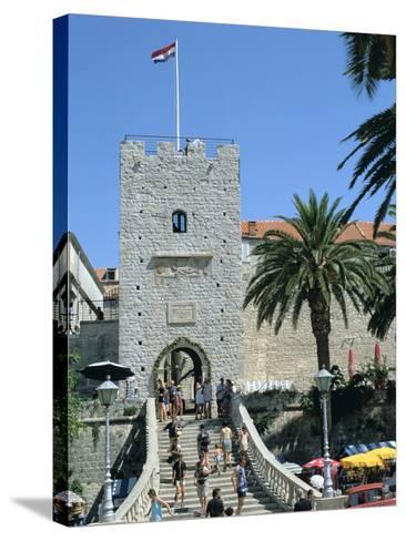Land Gate, Korcula, Croatia-Peter Thompson-Stretched Canvas Print