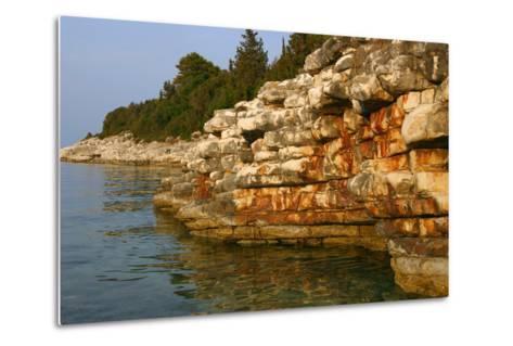 Rock Formations, Kefalonia, Greece-Peter Thompson-Metal Print