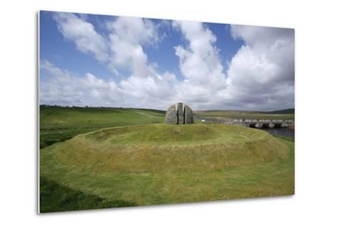 Memorial Cairn to the Grias and Coll Raiders, Isle of Lewis, Outer Hebrides, Scotland, 2009-Peter Thompson-Metal Print
