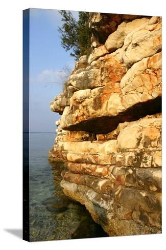 Rock Formations, Kefalonia, Greece-Peter Thompson-Stretched Canvas Print