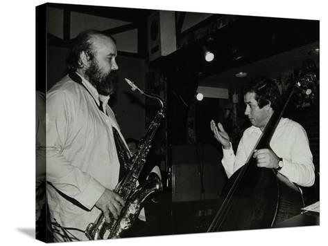 Don Weller and Chris Laurence Playing at the Bell, Codicote, Hertfordshire, 1980-Denis Williams-Stretched Canvas Print
