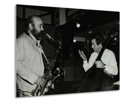 Don Weller and Chris Laurence Playing at the Bell, Codicote, Hertfordshire, 1980-Denis Williams-Metal Print