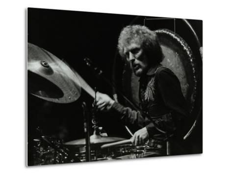 Drummer Ginger Baker Performing at the Forum Theatre, Hatfield, Hertfordshire, 1980-Denis Williams-Metal Print
