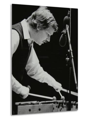 Gary Burton Playing the Vibraphone at the Forum Theatre, Hatfield, Hertfordshire, 25 November 1980-Denis Williams-Metal Print