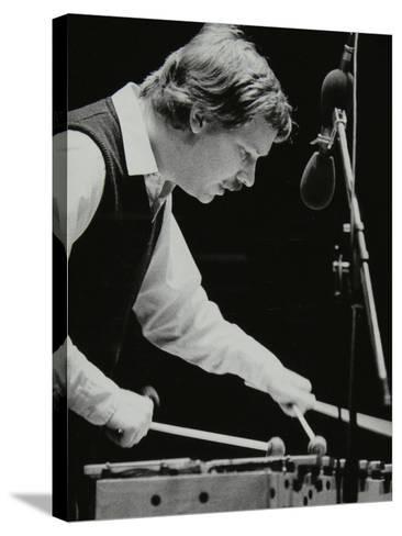 Gary Burton Playing the Vibraphone at the Forum Theatre, Hatfield, Hertfordshire, 25 November 1980-Denis Williams-Stretched Canvas Print