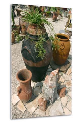 Pottery Karavomilos, Kefalonia, Greece-Peter Thompson-Metal Print