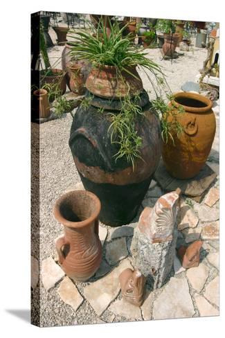 Pottery Karavomilos, Kefalonia, Greece-Peter Thompson-Stretched Canvas Print