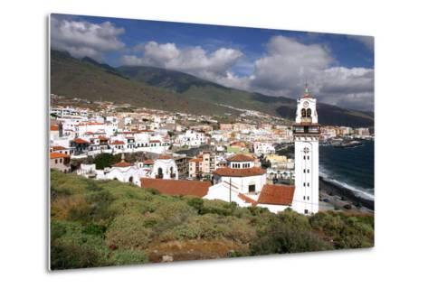Church and Bay, Candelaria, Tenerife, 2007-Peter Thompson-Metal Print