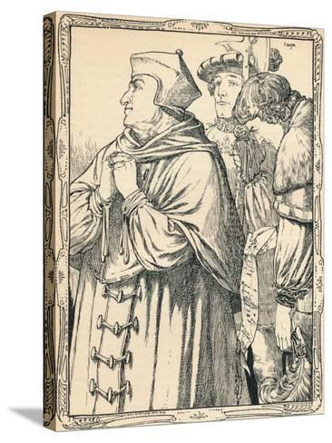 The Arrest of Cardinal Wolsey, 1902-Patten Wilson-Stretched Canvas Print