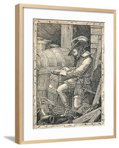 Raleigh in the Tower, 1902-Patten Wilson-Framed Art Print