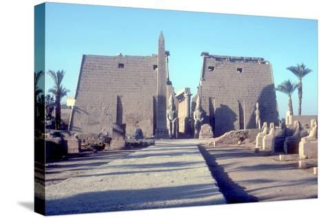 Temple Sacred to Amun Mut and Khons (Khonsu), Luxor, Egypt-CM Dixon-Stretched Canvas Print