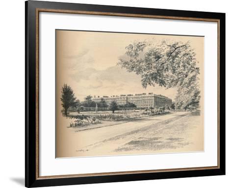The Garden Fronts of Hampton Court Palace, 1902-Thomas Robert Way-Framed Art Print
