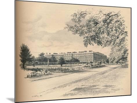 The Garden Fronts of Hampton Court Palace, 1902-Thomas Robert Way-Mounted Giclee Print