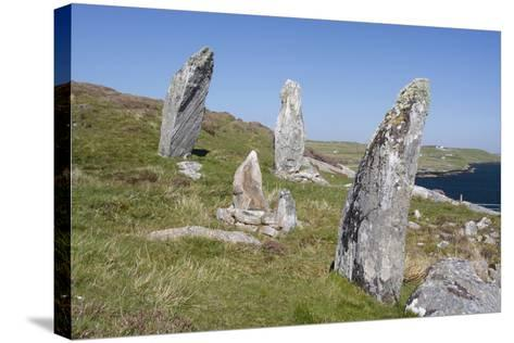 Standing Stones, Great Bernera, Isle of Lewis, Outer Hebrides, Scotland, 2009-Peter Thompson-Stretched Canvas Print