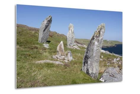 Standing Stones, Great Bernera, Isle of Lewis, Outer Hebrides, Scotland, 2009-Peter Thompson-Metal Print