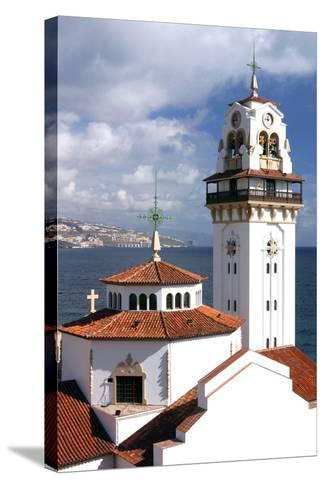 Church and Bay, Candelaria, Tenerife, 2007-Peter Thompson-Stretched Canvas Print