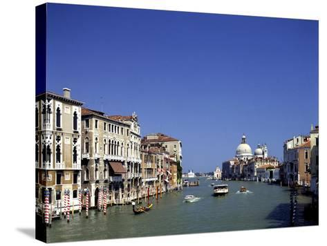 The Grand Canal and San Salute from Accademia Bridge, Venice, Italy-Peter Thompson-Stretched Canvas Print