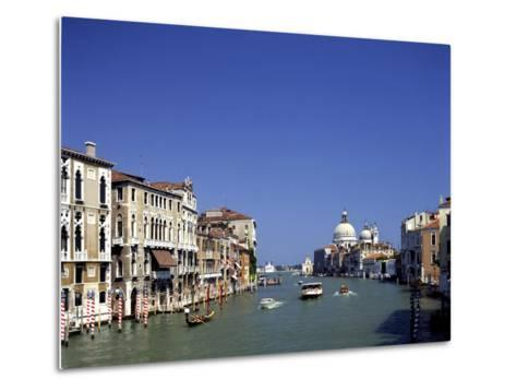 The Grand Canal and San Salute from Accademia Bridge, Venice, Italy-Peter Thompson-Metal Print