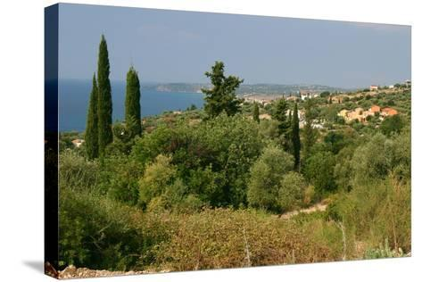 Distant View of Lourdas, Kefalonia, Greece-Peter Thompson-Stretched Canvas Print