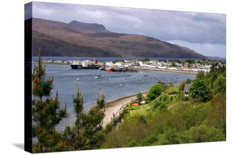View of Ullapool Harbour, Highland, Scotland-Peter Thompson-Stretched Canvas Print