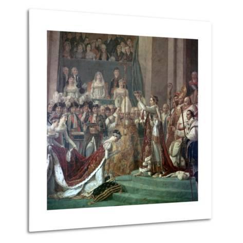 Painting of Napoleon Buonaparte and Empress Josephine, 18th Century-Jacques-Louis David-Metal Print