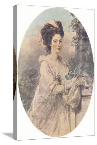 Miss Isabella Hunter, 1781, (1907)-John Downman-Stretched Canvas Print