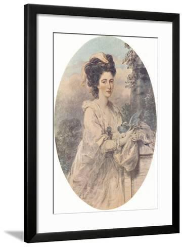 Miss Isabella Hunter, 1781, (1907)-John Downman-Framed Art Print
