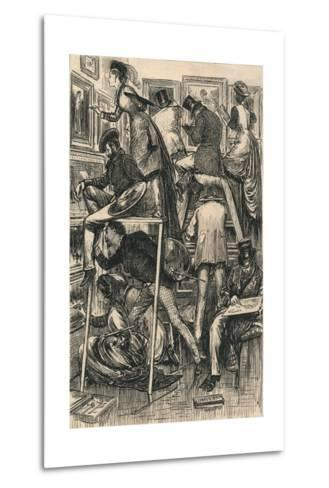 Varnishing Day at the Royal Academy, 1877-George Louis Palmella Busson Du Maurier-Metal Print