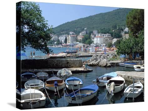 Harbour, Opatija, Croatia-Peter Thompson-Stretched Canvas Print