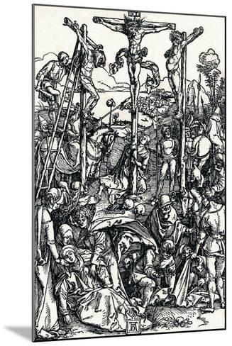 Calvary with the Three Crosses, 1504-Albrecht D?rer-Mounted Giclee Print