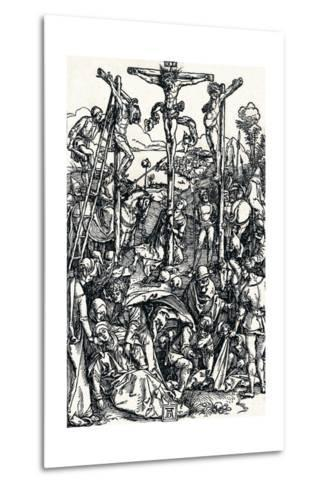 Calvary with the Three Crosses, 1504-Albrecht D?rer-Metal Print