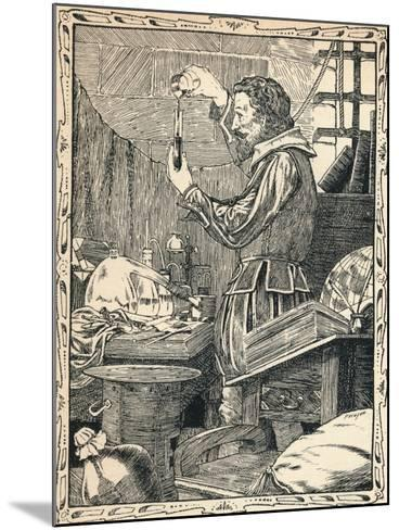 Guy Fawkes Preparing the Slow Match, 1902-Patten Wilson-Mounted Giclee Print