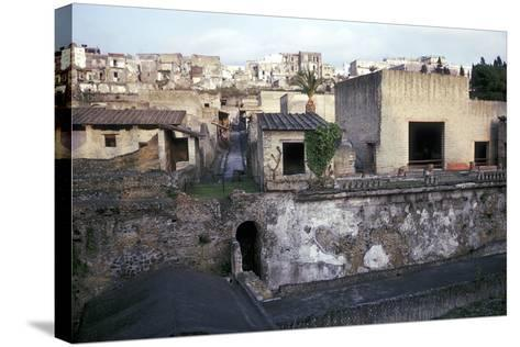 Buildings of Herculaneum with Houses of the Modern Town of Ercolano Above, Italy-CM Dixon-Stretched Canvas Print