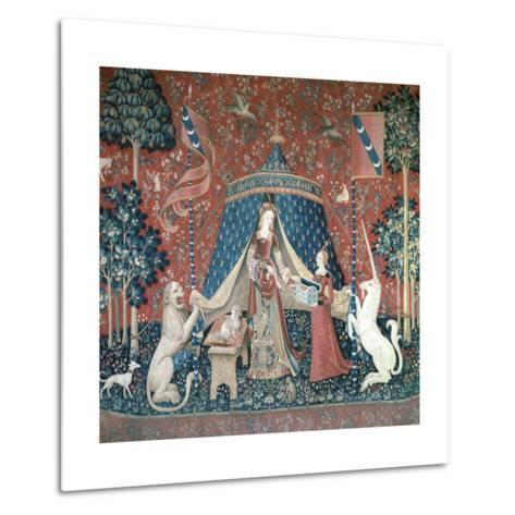 La Dame a La Licorne, 15th Century-CM Dixon-Metal Print