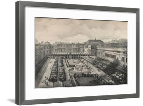 View of the Palais-Royal in 1834, 1915-Albert Delton-Framed Art Print